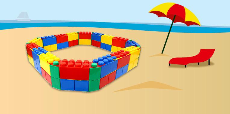 wader sandkasten aus baustein 41432. Black Bedroom Furniture Sets. Home Design Ideas